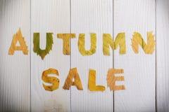 η πώληση φθινοπώρου Στοκ Φωτογραφίες