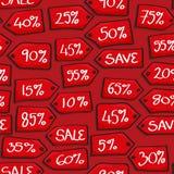 Η πώληση κινούμενων σχεδίων κολλά το άνευ ραφής υπόβαθρο Στοκ Εικόνες