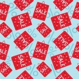 Η πώληση τοποθετεί το άνευ ραφής σχέδιο σε σάκκο Στοκ Εικόνες