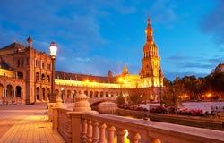 Η πλατεία της Ισπανίας βραδιού Στοκ Εικόνες