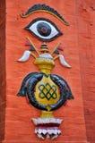 Ινδή τέχνη στην πλατεία του Κατμαντού Durbar στοκ φωτογραφίες