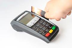 Η πληρωμή με πιστωτική κάρτα, αγοράζει και πωλεί τα προϊόντα Στοκ Εικόνα