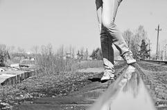 Η ράγα doroge Στοκ φωτογραφίες με δικαίωμα ελεύθερης χρήσης