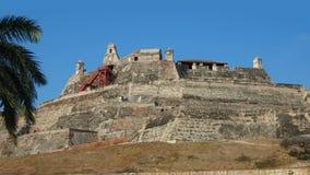 Η δραστηριότητα στο Castillo SAN Felipe de Barajas είναι ένα φρούριο στην πόλη της Καρχηδόνας Στοκ Φωτογραφία