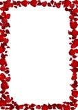 Η ρεαλιστική μορφή καρδιών κόκκινη αυξήθηκε πλαίσιο πετάλων, διανυσματικό illus λουλουδιών Στοκ φωτογραφία με δικαίωμα ελεύθερης χρήσης