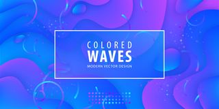 Η ρευστή κλίση διαμορφώνει τη σύνθεση Υγρό σχέδιο υποβάθρου χρώματος Αφίσες σχεδίου επίσης corel σύρετε το διάνυσμα απεικόνισης ελεύθερη απεικόνιση δικαιώματος