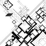 η ροή άμπωτης περιέγραψε το τετράγωνο Στοκ φωτογραφία με δικαίωμα ελεύθερης χρήσης