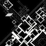 η ροή άμπωτης neg περιέγραψε το τετράγωνο Στοκ εικόνα με δικαίωμα ελεύθερης χρήσης