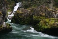 η ροή άφησε τον ποταμό Στοκ εικόνα με δικαίωμα ελεύθερης χρήσης