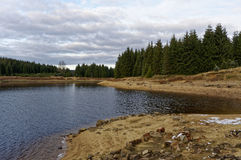 Η ροή του νερού διόγκωσε στον ποταμό στοκ εικόνα