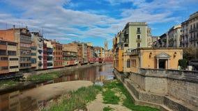 Η ρομαντική πόλη Girona Στοκ Εικόνες