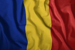 Η ρουμανική σημαία πετά στον αέρα Ζωηρόχρωμος, εθνική σημαία της Ρουμανίας Πατριωτισμός, ένα πατριωτικό σύμβολο ελεύθερη απεικόνιση δικαιώματος
