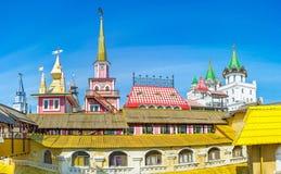Η ρωσική αρχιτεκτονική της αγοράς Izmailovsky Στοκ φωτογραφία με δικαίωμα ελεύθερης χρήσης