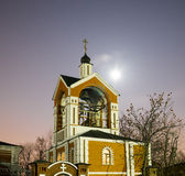Η ρωσική εκκλησία στη νύχτα Στοκ Εικόνα