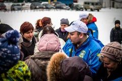 Η ρωσική προπαγάνδα Το ρωσικό τραίνο εκστρατείας του κόμματος LDPR αντίθεσης Στοκ Εικόνες