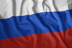 Η ρωσική σημαία πετά στον αέρα Ζωηρόχρωμος, εθνική σημαία της Ρωσίας πατριωτισμός ελεύθερη απεικόνιση δικαιώματος
