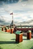 Η ρωσική σημαία φρουρίων Στοκ Εικόνες