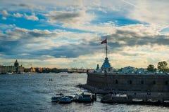 Η ρωσική σημαία φρουρίων Στοκ Φωτογραφία