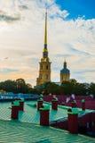 Η ρωσική σημαία φρουρίων Στοκ εικόνα με δικαίωμα ελεύθερης χρήσης