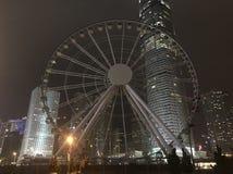 Η ρόδα παρατήρησης Χονγκ Κονγκ στοκ εικόνα
