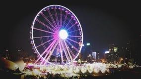 Η ρόδα παρατήρησης Χονγκ Κονγκ στοκ φωτογραφία με δικαίωμα ελεύθερης χρήσης