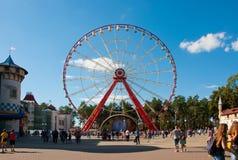 Η ρόδα Ferris στο Central Park σε Kharkov, Ουκρανία Στοκ Φωτογραφίες