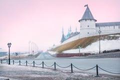 Η ρόδινη ομίχλη Kazan στοκ εικόνες