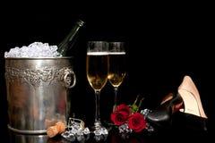 η ρύθμιση πίνει ρομαντικό Στοκ Εικόνες