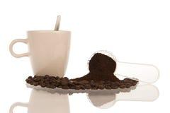 Η ρύθμιση του καφέ αφορούσε την ουσία Στοκ Εικόνες