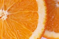 Η σάρκα είναι juicy πορτοκαλιά κινηματογράφηση σε πρώτο πλάνο Στοκ Φωτογραφίες