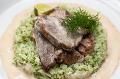 Η σάλτσα κρέατος με διακοσμεί Στοκ εικόνες με δικαίωμα ελεύθερης χρήσης