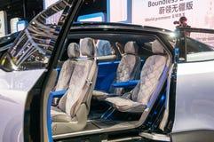 Η Σαγκάη αυτόματη παρουσιάζει εσωτερικό ταυτότητας της VW του 2017 Στοκ εικόνα με δικαίωμα ελεύθερης χρήσης