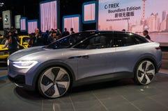 Η Σαγκάη αυτόματη παρουσιάζει ταυτότητα της VW του 2017 Στοκ Εικόνες