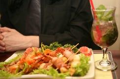 η σαλάτα γαρίδων Στοκ Εικόνες