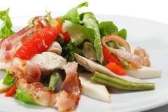 η σαλάτα κρέατος λεπταίνει το λαχανικό Στοκ εικόνα με δικαίωμα ελεύθερης χρήσης