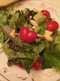 Η σαλάτα πρασινίζει την ντομάτα καρδιών Στοκ εικόνες με δικαίωμα ελεύθερης χρήσης