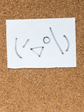 Η σειρά ιαπωνικών emoticons κάλεσε Kaomoji, κρυφοκοίταγμα Στοκ Φωτογραφία