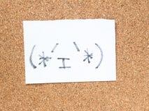 Η σειρά ιαπωνικών emoticons κάλεσε Kaomoji, περιεχόμενο Στοκ φωτογραφία με δικαίωμα ελεύθερης χρήσης