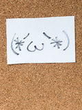 Η σειρά ιαπωνικών emoticons κάλεσε Kaomoji, περιεχόμενο Στοκ εικόνα με δικαίωμα ελεύθερης χρήσης