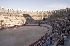 Η σειρά μαθημάτων στο αμφιθέατρο Arles Στοκ Φωτογραφία