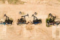 Η σειρά των φορτωτήρων πετρελαίου Στοκ φωτογραφίες με δικαίωμα ελεύθερης χρήσης