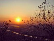 Η Σεούλ, επίσημα η ειδική μητροπολιτική πόλη †της Σεούλ «είναι η de facto κύρια και μεγαλύτερη μητρόπολη της Δημοκρατίας της Κο στοκ φωτογραφίες