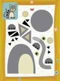 Η σελίδα με τις ασκήσεις για τα παιδιά - αγρόκτημα - απεικόνιση για τα παιδιά Στοκ Φωτογραφία