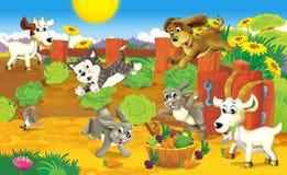 Η σελίδα με τις ασκήσεις για τα παιδιά - αγρόκτημα - απεικόνιση για τα παιδιά διανυσματική απεικόνιση