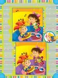 Η σελίδα με τις ασκήσεις για τα παιδιά - απεικόνιση για τα παιδιά Στοκ Εικόνες