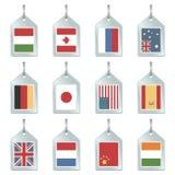 η σημαία εξαπατά το πλήκτρο Στοκ εικόνες με δικαίωμα ελεύθερης χρήσης