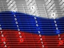 Η σημαία και τα ψηφία της Ρωσίας παρουσιάζουν τρισδιάστατη απεικόνιση χάραξης διανυσματική απεικόνιση