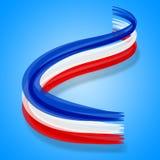Η σημαία της Γαλλίας δείχνει ευρωπαϊκά ευρο- και γαλλικά Στοκ Εικόνες