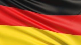 Η σημαία της γερμανικής σημαίας της Γερμανίας ή διανυσματική απεικόνιση
