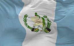 Η σημαία της Γουατεμάλα που κυματίζει στον αέρα τρισδιάστατο δίνει Στοκ Εικόνες